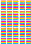 Pansexual Pride Flag Stickers - 65 per sheet